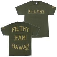 FILTHY HAWAII   Filthy Hawaii TSHIRTS カーキ/ゴールド