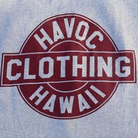 HAVOC HAWAII CLOTHING    HAVOC Tshirts   Gray/Bargandy