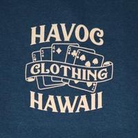 HAVOC HAWAII CLOTHING     OUTTA LUCK   Tshirts  ネイビー/ベージュ