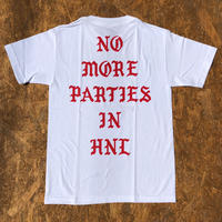 BLACK LABEL  HI    NO MORE PARTIES IN HNL T-shirts ホワイト/レッド