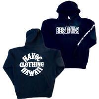 HAVOC HAWAII CLOTHING   パーカー ブラック/ホワイト