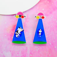 Cattle Mutilation(BLU)Earrings/Ear clip
