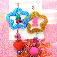 くまグミ12 Earrings/Ear clips
