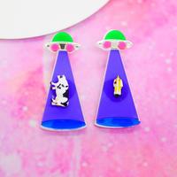 キャトルミューティレーション(両耳/PPL)ピアス/イヤリングCattle Mutilation(PPL)Earrings/Ear clip