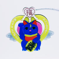 【片耳/ブローチ】魔法猫イエロー  Brooch/Single Earrings
