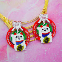 Lucky Cat Earrings/Ear clips