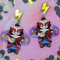 Yakko Dako Purple Earrings/Ear clips