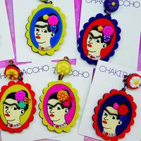 Frida Khalo(Colorful)Single Earring s/Ear clips