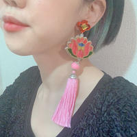 【片耳/ブローチ】NEW蓮 PINK  Brooch/Single Earrings