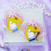 New 浮世絵美少女 Earrings/Ear clips