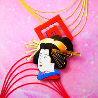 Oiran Brooch /Single earrings ・Ear clips