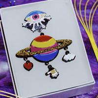 (NEW)土星とカッシーニ Single Earrings/Ear clips