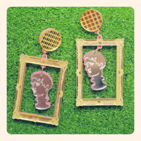 Art Frame Earrings/Ear clips
