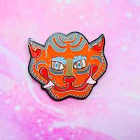 Tiger Face  Brooch/Single Earrings・Ear clips