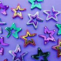 【両耳】Open Star  Earrings/Ear clips