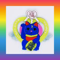 (廃盤)魔法猫イエロー (片耳)ピアス/イヤリング/ブローチ Lucky Luna Brooch/Single Earrings・Ear clips  のコピー