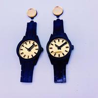 【両耳セット】BLACK×BLACK   Big Watches