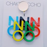 【片耳/ブローチ】NO!オリンピック   Brooch/Single Earrings