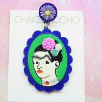 Frida Khalo(NV×GR)Single Earring s/Ear clips