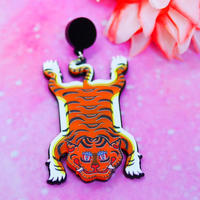 Tiger Carpet Brooch/Single Earring ・Ear clip