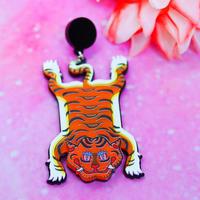 【片耳/ブローチ】タイガーカーペット   Brooch/Single Earrings