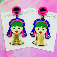 :Kayan people Single Earring/Ear clip/Brooch