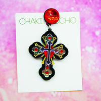 Black cross Single Earring/Ear clip