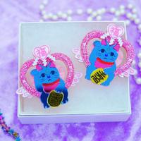 New魔法猫 Earrings/Ear clips