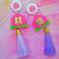 Peach Earrings/Ear clip