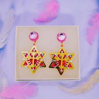 Hexagonal star Earrings/Ear clips