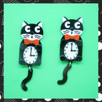 Chakit cat Earrings/Ear clips