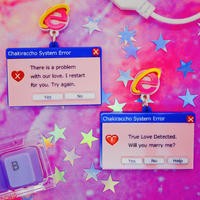 Pink System Error Earrings/Ear clips