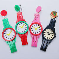 【片耳】カラフルな時計 Colorful Watches  Single earrings/Ear clips