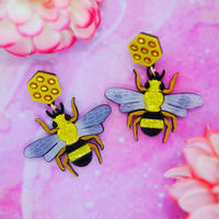 Bee Earrings/Ear clips