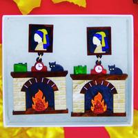 Fire place Earrings/Ear clips