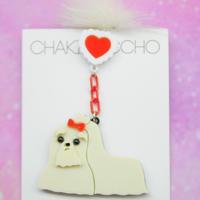 汚れた犬Dirty Dog Single Earring/Ear clip/Brooch