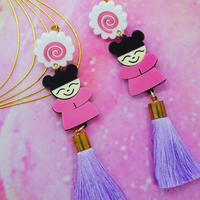 Chinese Girl Earrings/Ear clip