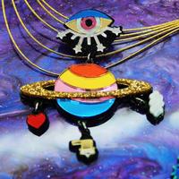 【片耳】NEW 土星とカッシーニ  Single Earrings