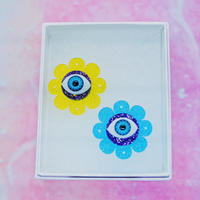 Lovely Flower【YEL/AQU】Earrings/Ear clips【5】