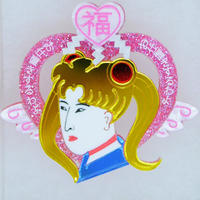 【片耳/ブローチ】浮世絵美少女 Brooch/Single Earrings