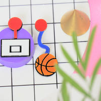 【両耳セット】バスケット Basketball