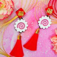 Naruto Red Earrings/Ear clip