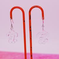 漢字(クリアの宝)両耳 Earrings/Ear clips