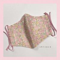 ノーズワイヤー&ポケット付き♡立体マスク flower pink
