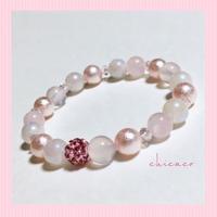 💗アロマ香るピンクの天然石パワーストーンブレスレット