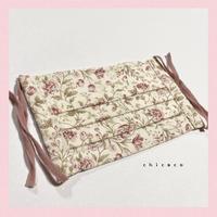 ノーズワイヤー入り♡コットンプリーツマスク flower antique rose