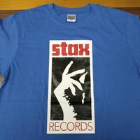 スタックス・レコード ロゴTシャツ ミディアムブルー