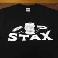 スタックス・レコード クラッシックロゴTシャツ ブラック
