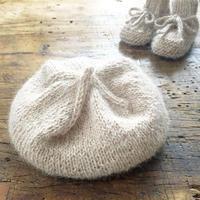 アルパカのベビーニット帽