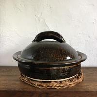 杉本寿樹 飴釉  尺土鍋